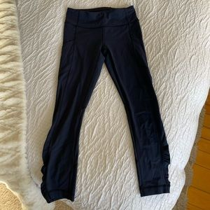 Navy Crop Lululemon Leggings